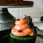 halloween dark chocolate cupcakes